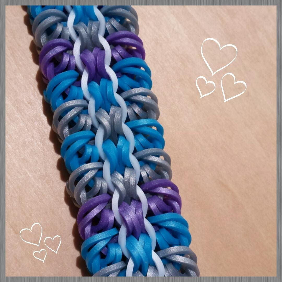 "This is a hooked design. No loom needed.  *Zuzu*  New ""Fieldstone""  Bracelet/How To Tutorial"