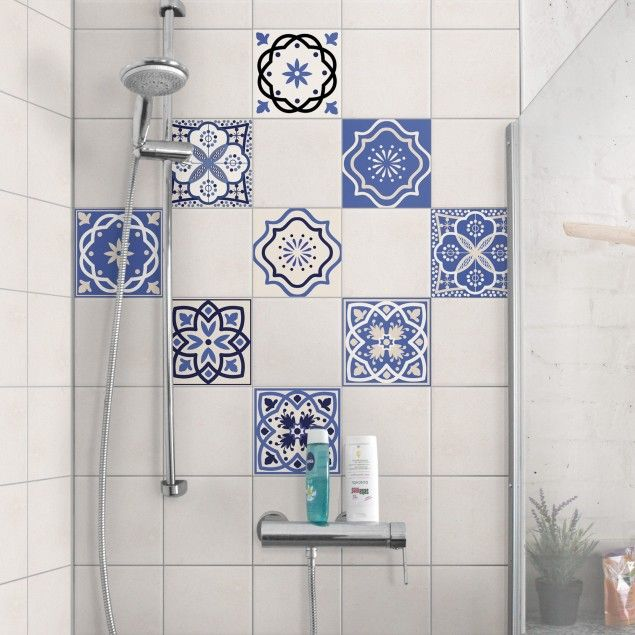 Tile Sticker Set 9 Portuguese Tiles 10cm X 10cm Picture Tiles Decorative Tile Portuguese Tiles