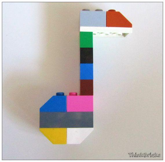 Lego® Fridge magnet Eighth Note musician's gift by ThinkBricks ...