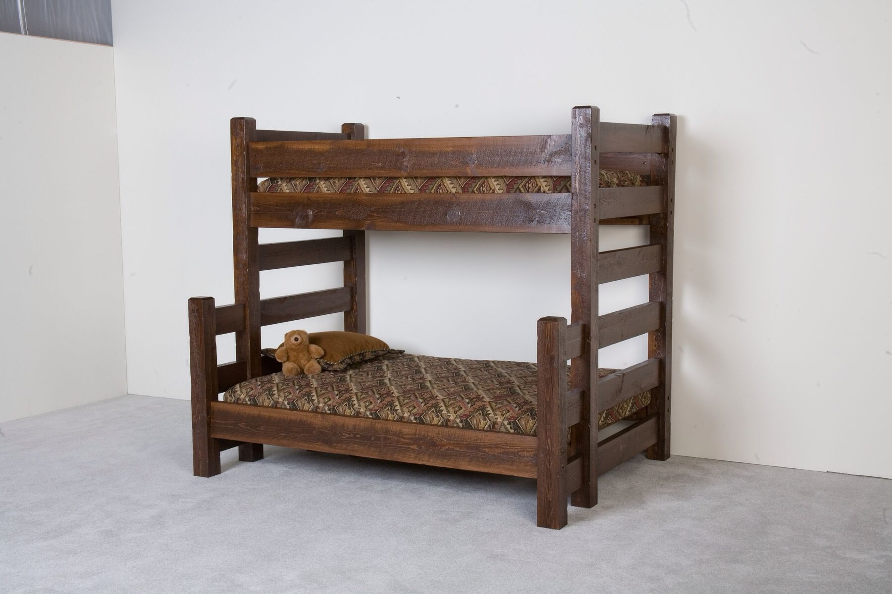 Loft bed with desk underneath  Barn wood bunk bed  ALL THINGS KIDS  Pinterest