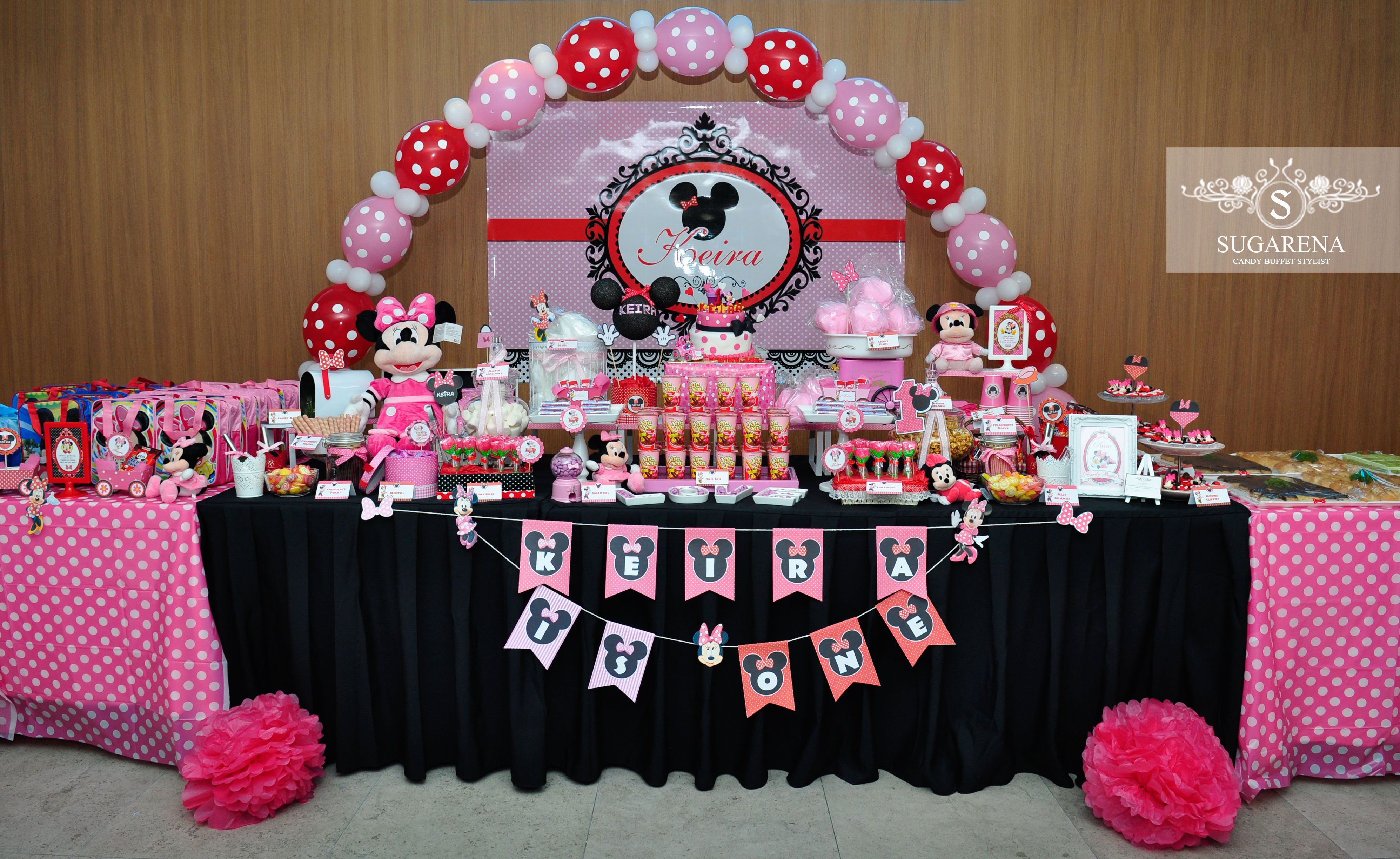 Minnie Mouse Candy Buffet Table Minnie Mouse Theme Party Minnie Mouse Theme Minnie Birthday Party