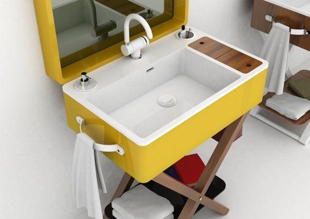 Salle de bain jaune moutarde : ... collection Beauty avec un petit ...