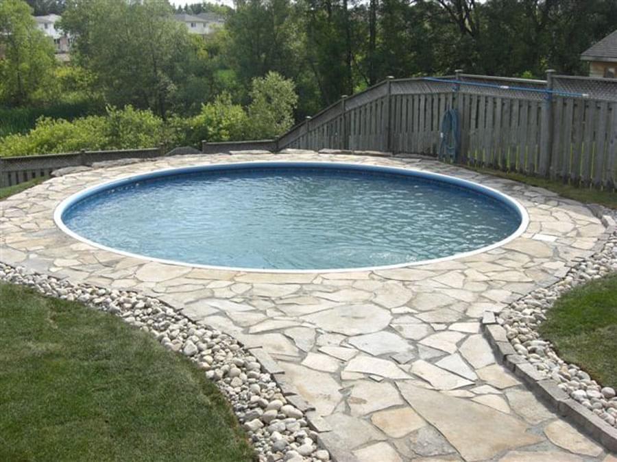 Image Result For Semi Inground Pool Hinterhof Pool Inground