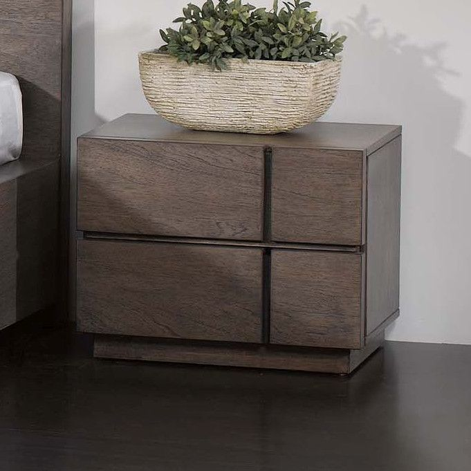 Chintaly Imports Tokyo 2 Drawer Nightstand