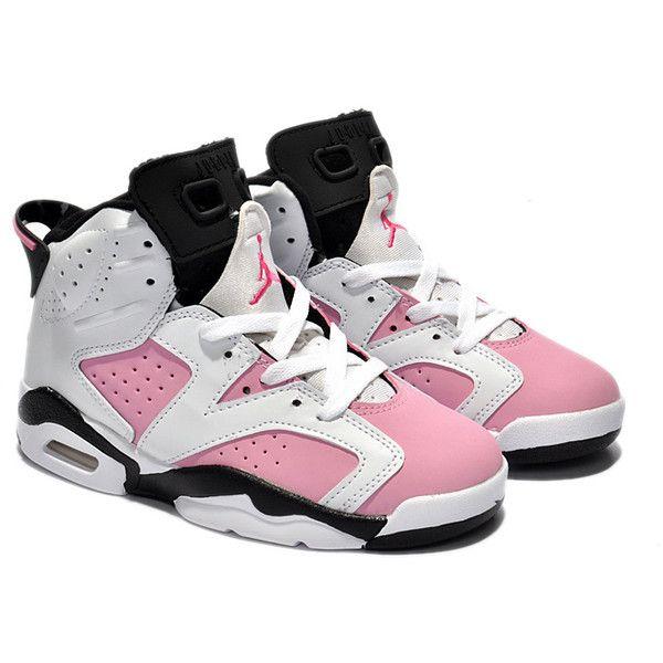 separation shoes 2e4ee e557f Kids Jordan 6 Retro White Black Pink ($51) ❤ liked on ...