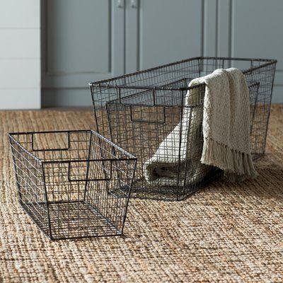 Best Laurel Foundry Modern Farmhouse 3 Piece Oblong Wire 400 x 300