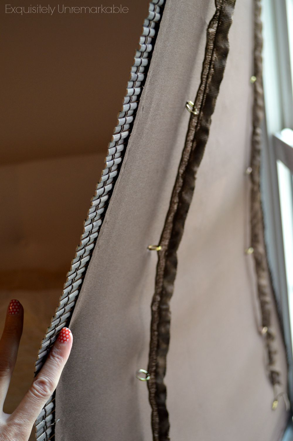 Make A Privacy Liner For Bamboo Roman Shades It S Super Easy And Inexpensive Diy