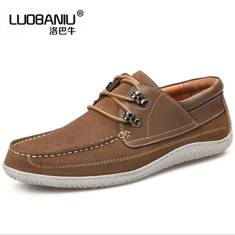 Men casual shoes Frosted leather Flats shoes spring fashion Loafers shoe Male chaussure homme zapatos obuv #Affiliate