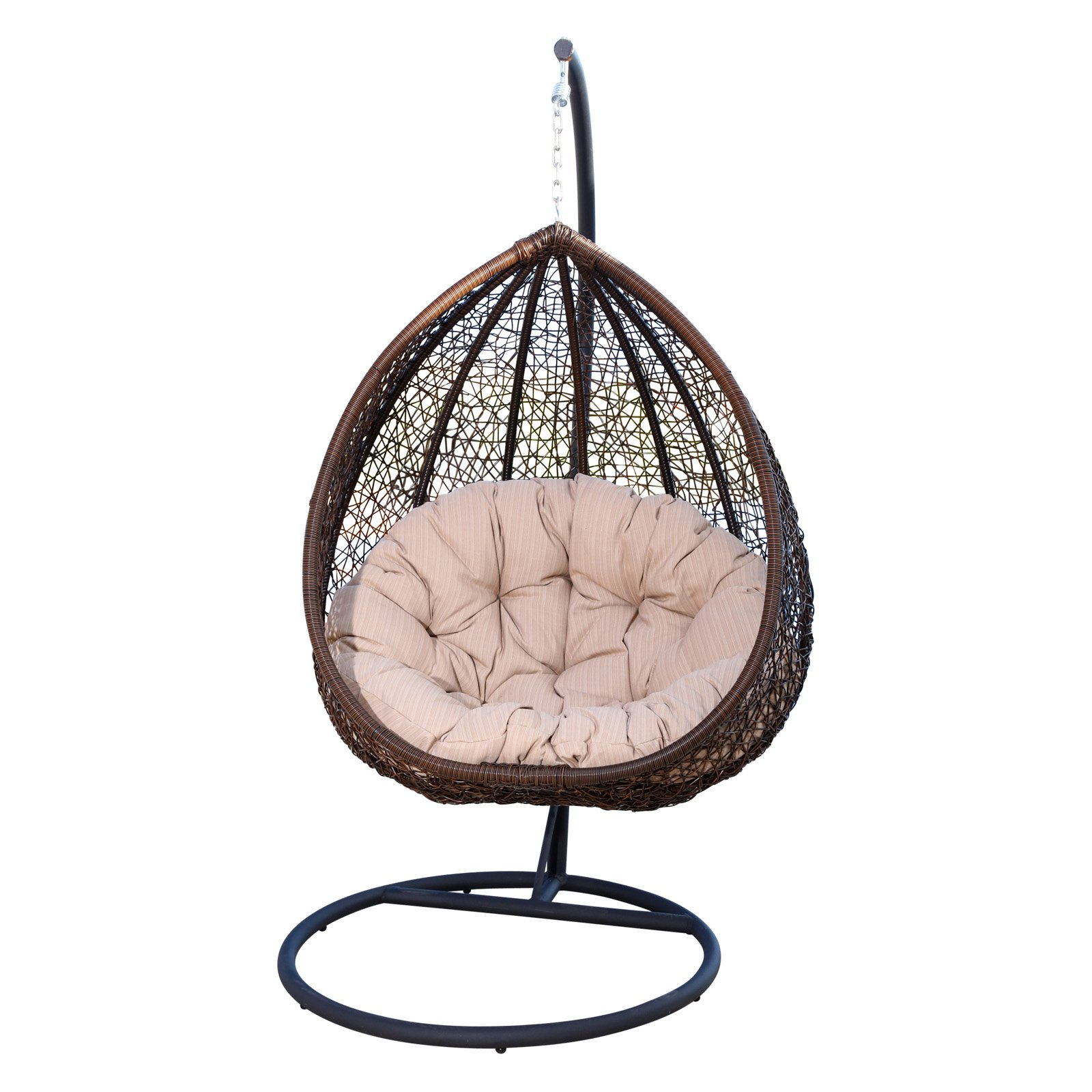 Astounding Abbyson Carmen Outdoor Wicker Swing Chair With Stand And Bralicious Painted Fabric Chair Ideas Braliciousco