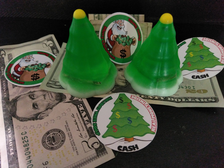 Christmas Tree Cash Soap Real Money Hidden Inside You Pick The Amount Organic Soap 2 1 2 X 2 Grab Bag Stocki Grab Bag Gifts Organic Soap Holiday Stockings