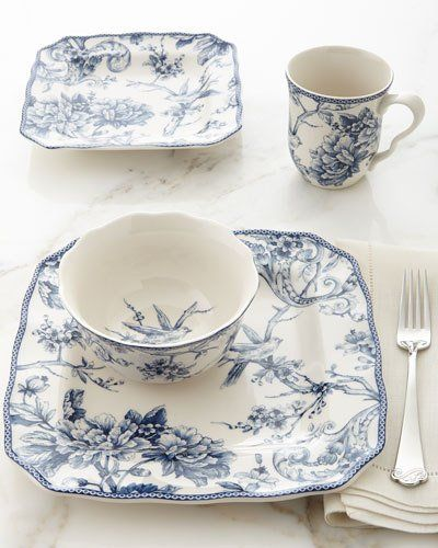 Designer Dinnerware at Neiman Marcus & H8DBS 16-Piece Adelaide Dinnerware Service | China and tableware ...