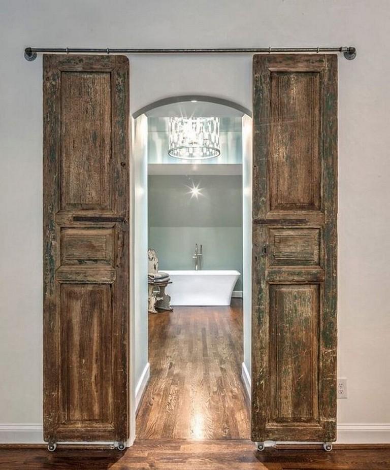 Bathroom Door Design Ideas From Wood