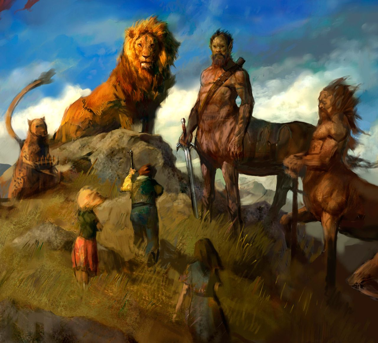 Aslan and his counsel. The Art Of Animation, Justin Sweet