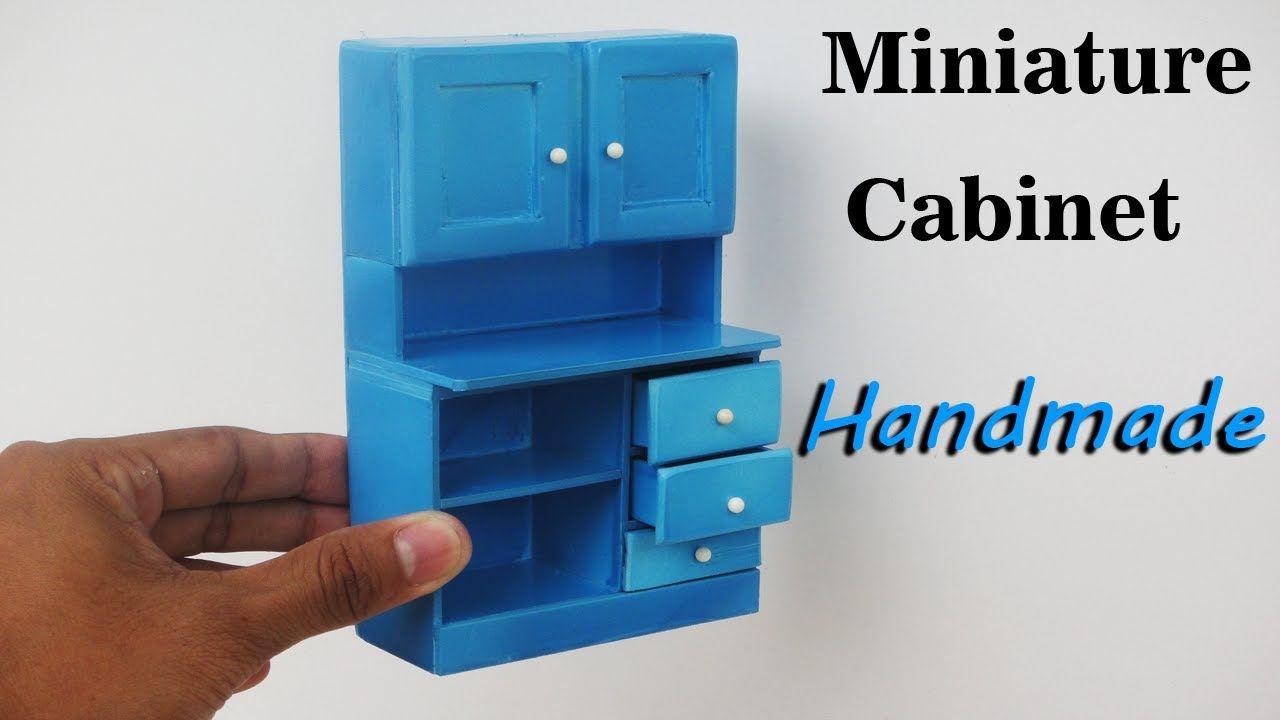 How To Make Realistic Miniature Cabinet Furniture - Handmade ...
