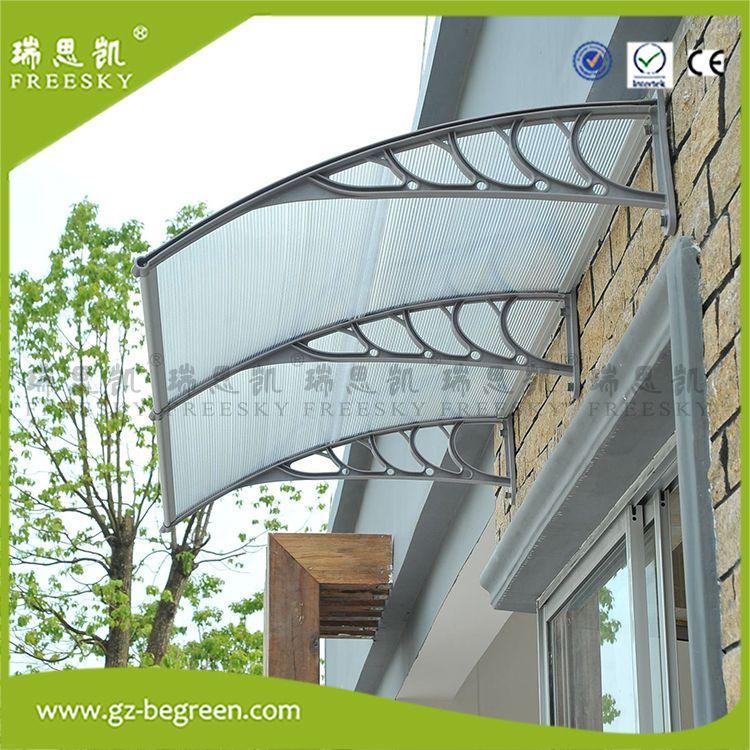 Window Awning Door Canopy Polycarbonate Front Door Garden Black