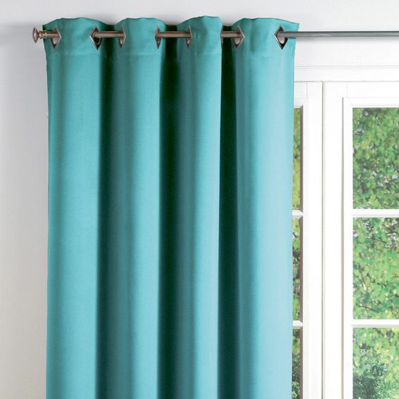 Rideau occultant 140 x h260 cm cocoon turquoise pinterest rideau occultant cocoon et for Rideau turquoise