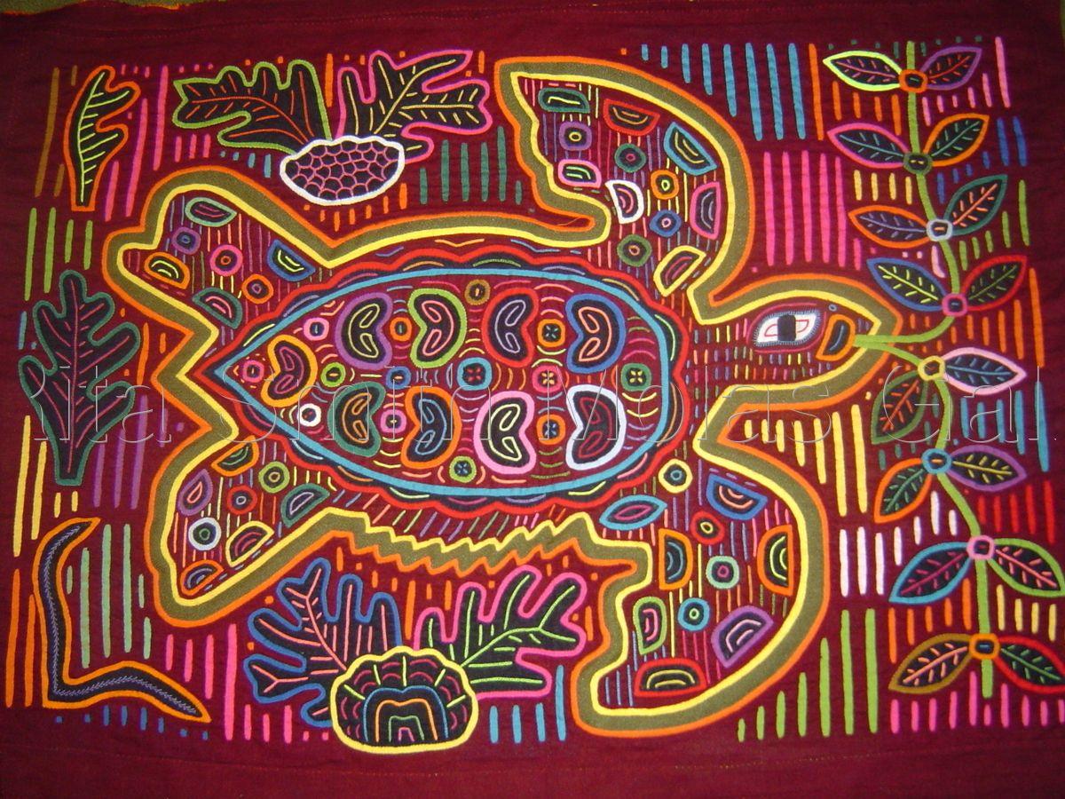 Cuna Molas Handmade Textiles Molitas Mola Art Of The Kuna
