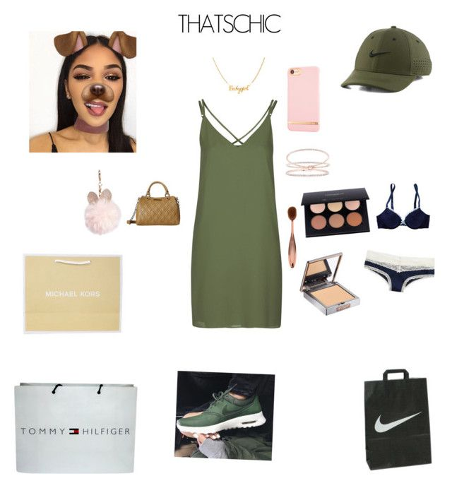 """Cyber Monday shopping"" by taylortibbs on Polyvore featuring Tommy Hilfiger, Topshop, NIKE, Anastasia Beverly Hills, Urban Decay, Aerie, Steve Madden, GUESS, Richmond & Finch and shoppingvibes"