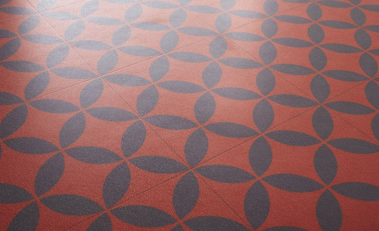 Sol Vinyle Texmark Carreau Ciment Rouge Et Noir Rouleau 4 M