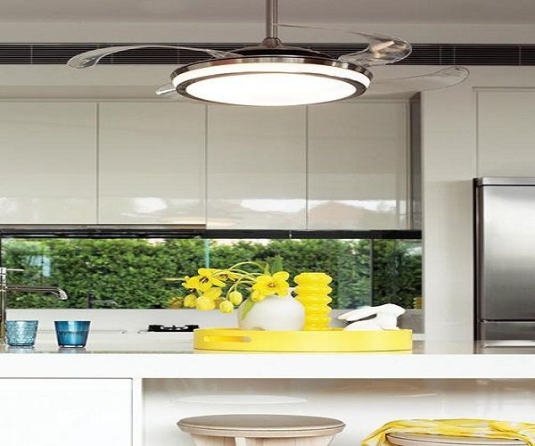 Ceiling Fans Kitchen: Slick Ceiling Fan With Light - Low Clearance