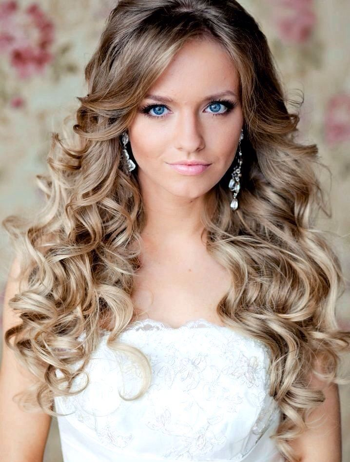 50 Simple Bridal Hairstyles For Curly Hair Long Bridal Hair Curly Hair Styles Curly Wedding Hair
