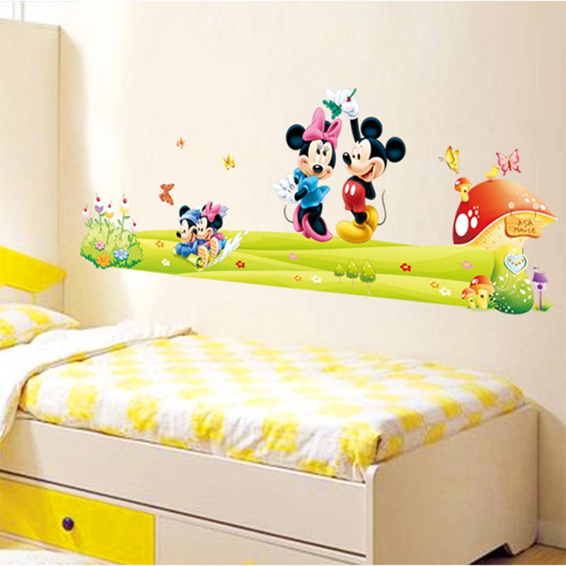 DIY Cartoon Kids Minnie&Mickey Mouse Removable Wall Stickers Baby ...