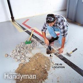 How to plumb a basement bathroom home basement - Cost to install basement bathroom ...