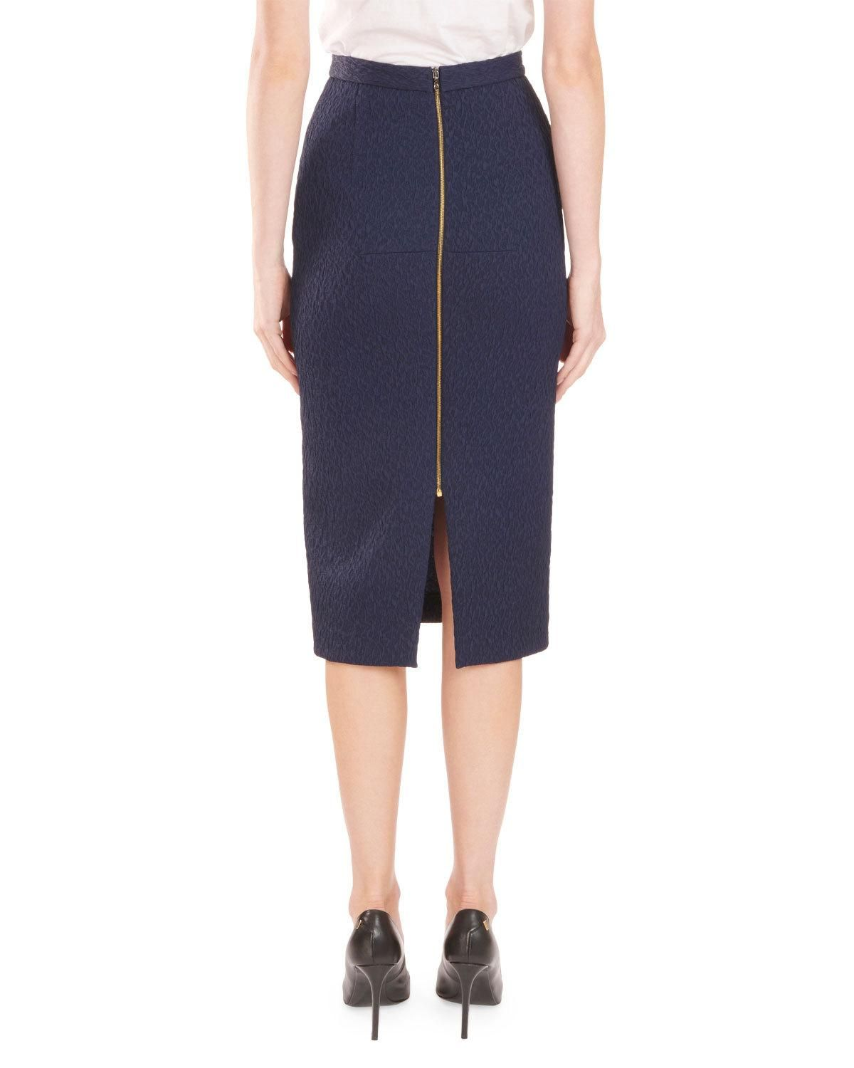 Roland Mouret Arreton Puckered Stretch Pencil Skirt with