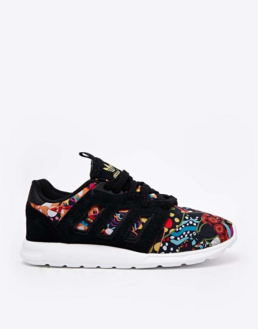 404f0c4e00e Adidas Originals X Farm Black Print Trainers
