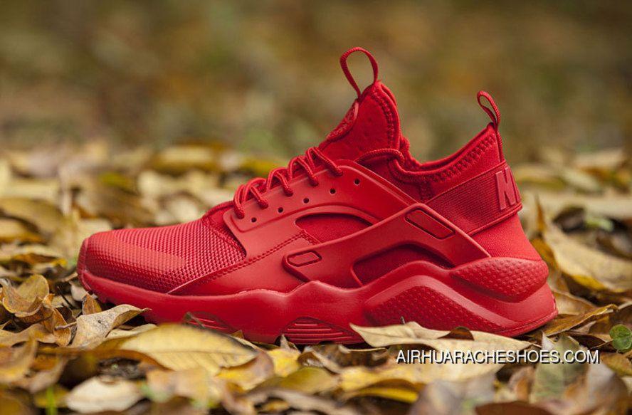 c6baf8658 Nike Huarache 4 Air Run Ultra Chinese Red Women Men Free Shipping