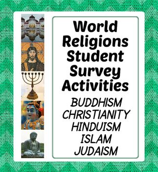 World Religions Activity Student Surveys Judaism Hinduism And - Five major religions