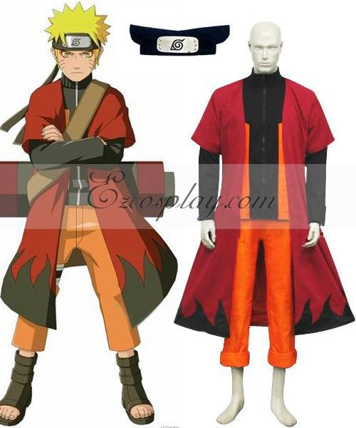 Click to Buy << Naruto Shippuuden Uzumaki Naruto Sage Cosplay Costume E001 #