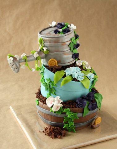 Pin Von Darlene Capps Auf Cakes Gartenkuchen Ruhestand Kuchen Motivtorten