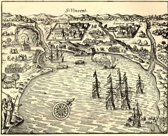 Map Of Sao Vicente Sao Paulo 1615 It Was The First