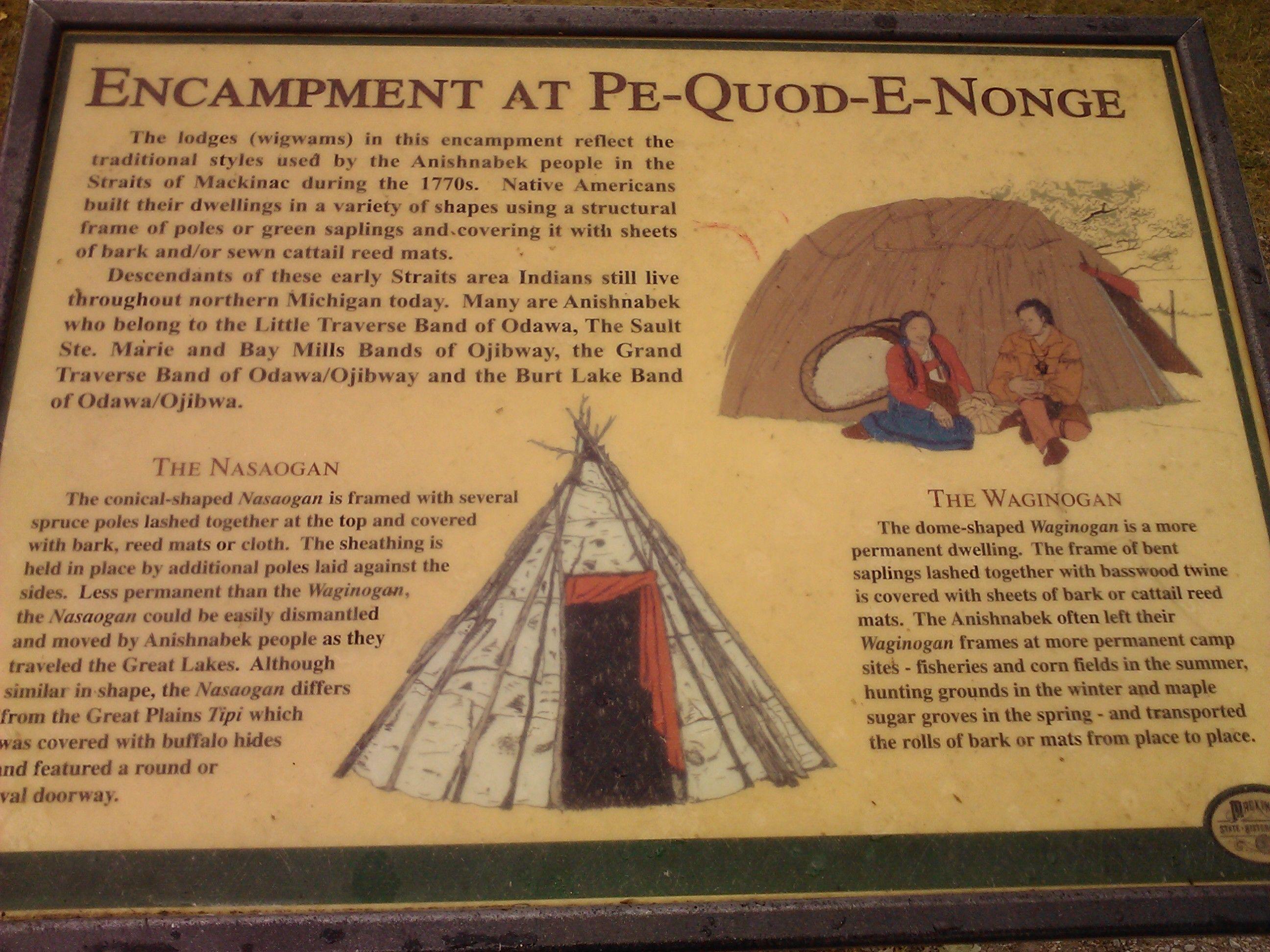 Information On Housing Found At Fort Michilimackinac Fm Mackinaw City Mackinaw Wigwam