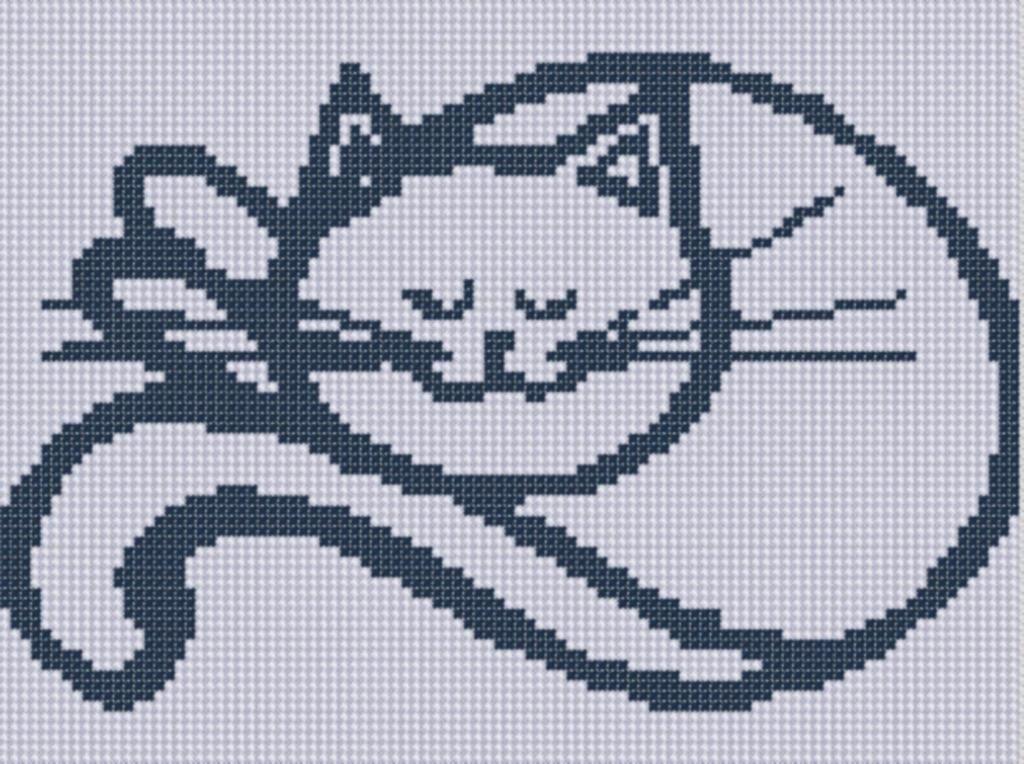 Cat 4 Cross Stitch Pattern Ponto cruz, Bordado ponto