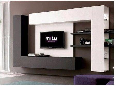 Modular moderno rack tv vajillero milu amoblamientos for Muebles comedor modulares