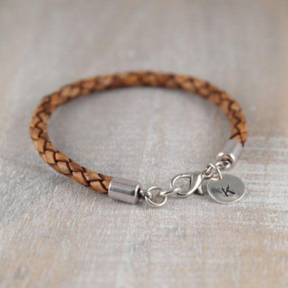 81c3665307d63 Mens leather braclet. Custom mens bracelet. Personalized unisex ...