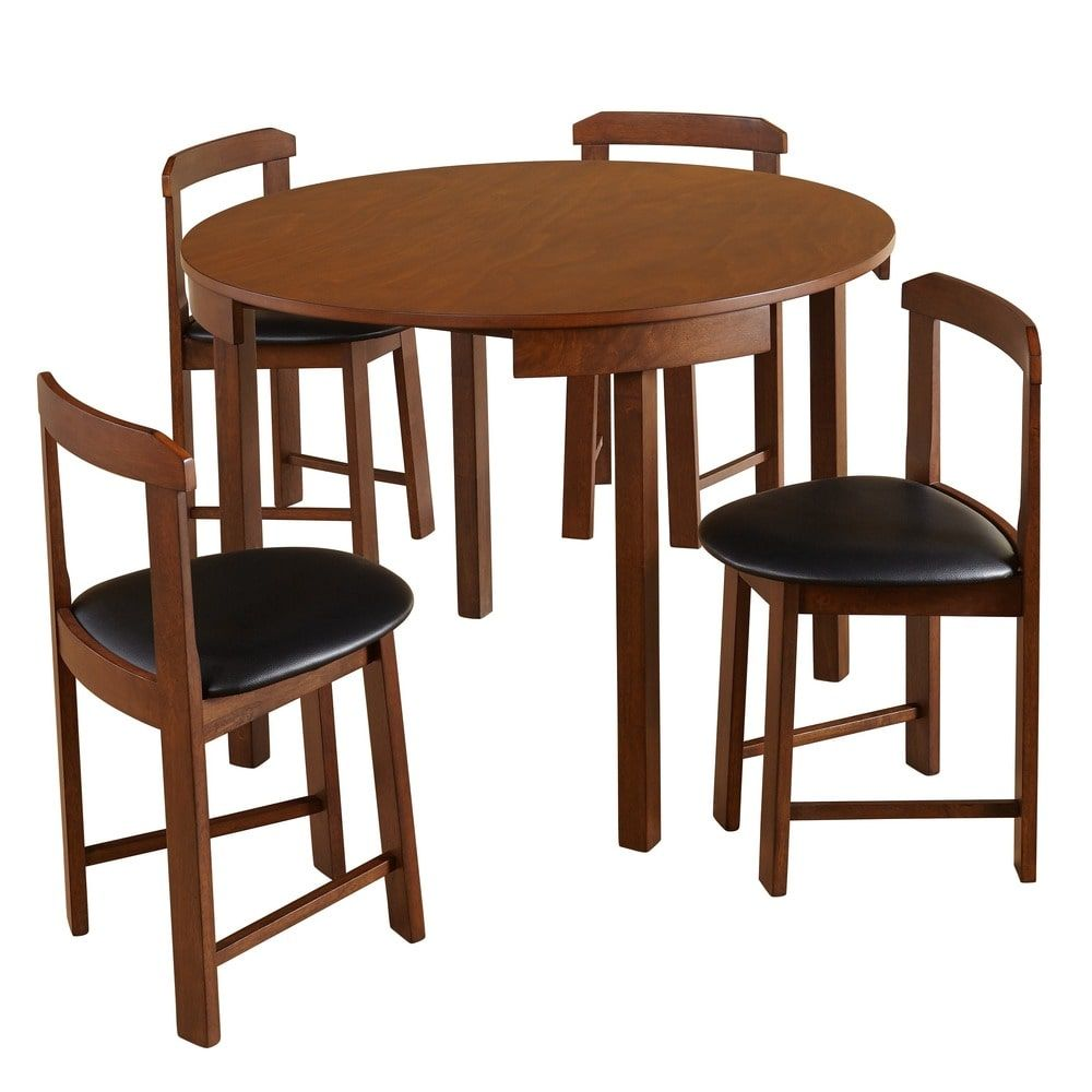 Simple living piece tobey compact round dining set overstock