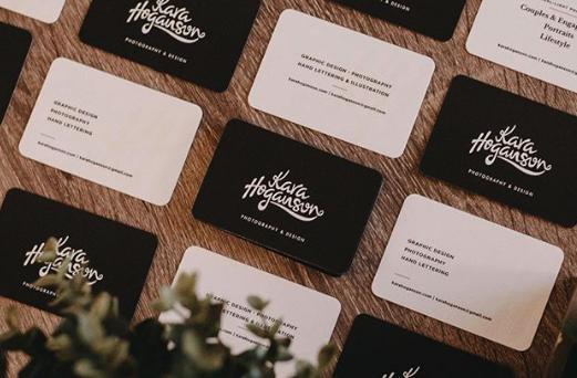 Moo Round Corner Business Cards Designed By Karahoganson Photography Design Business Card Design Card Design