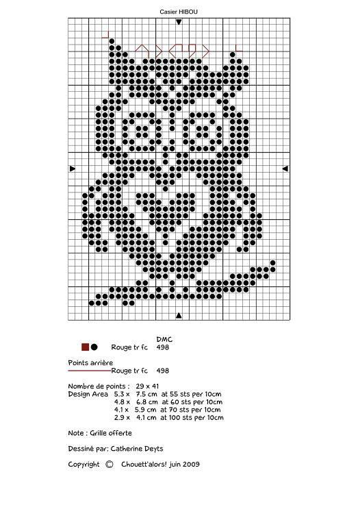 Cute Little Owl With Heart Cross Stitch Chart Eule Stricken Eulenmuster Kreuzstich Tiere