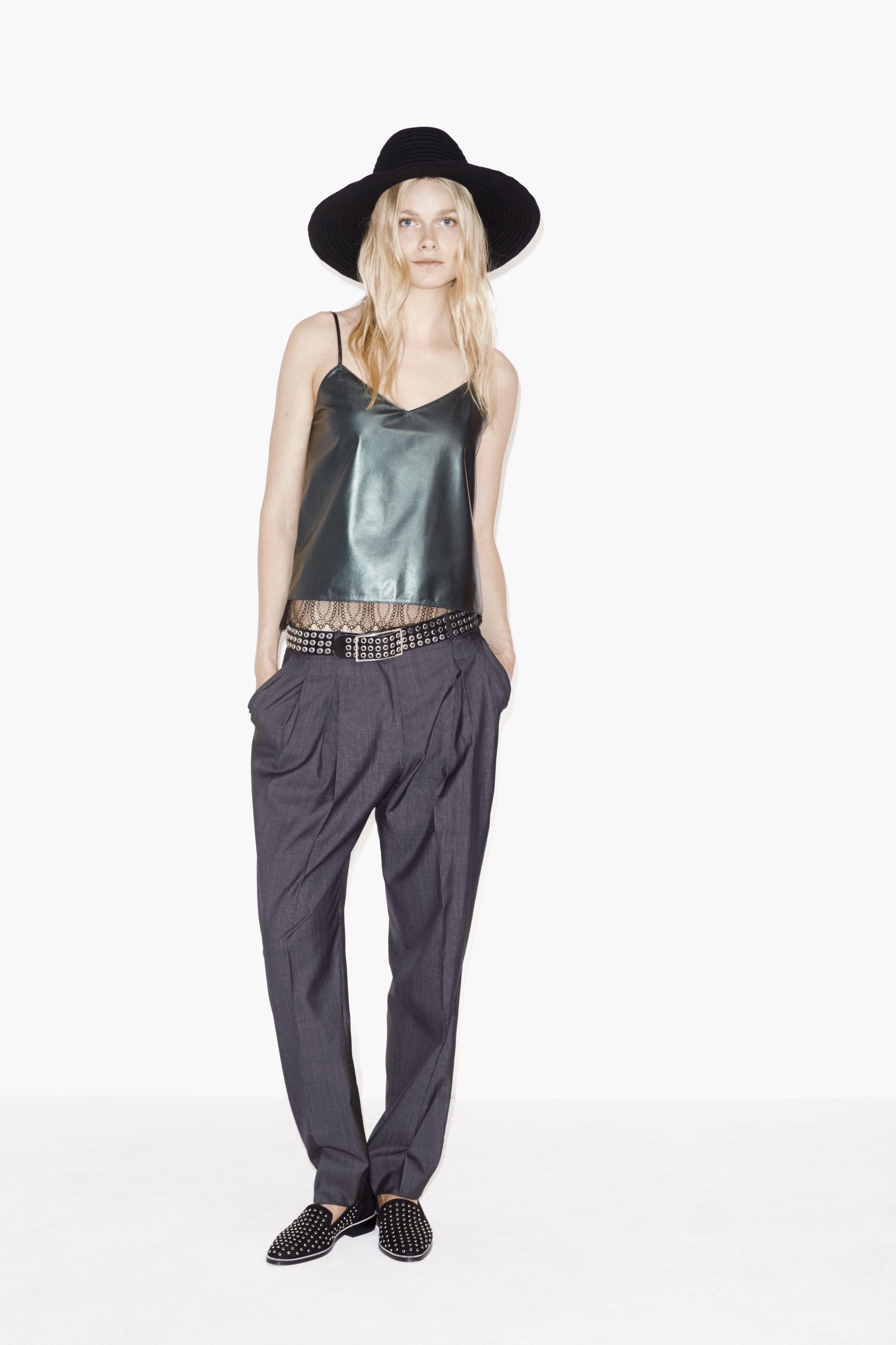 Pleated trousers - Women - The Kooples SS16 http://www.thekooples.com