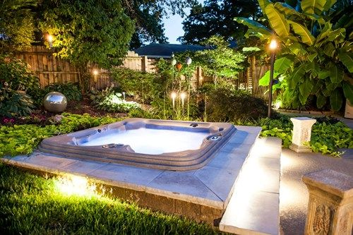 Small Backyard water feature Pinterest Patios traseros - patios traseros