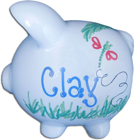 Personalized piggy bank personalized baby gifts pinterest personalized piggy bank negle Images