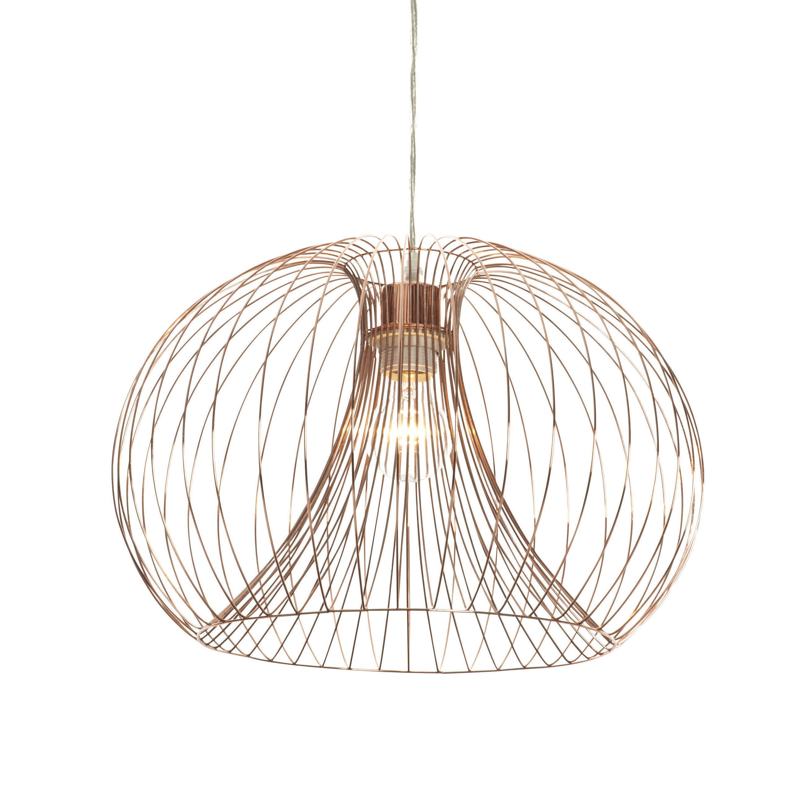 Jonas wire copper pendant ceiling light wire pendant copper wire jonas copper wire pendant ceiling light departments diy at bq aloadofball Gallery