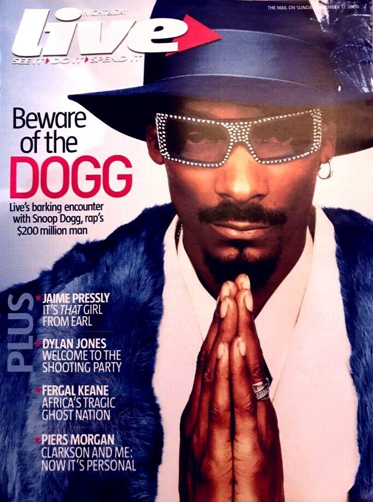 Live Magazine 2002 Uk Dogg Snoop Dogg Gangsta Rap