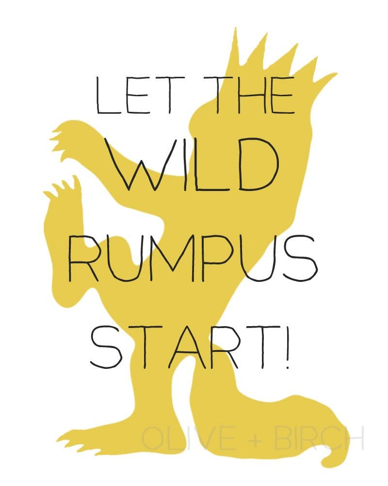 graphic relating to Let the Wild Rumpus Start Printable referred to as Where by the Wild Aspects Are Nursery Printable, Wild Rumpus