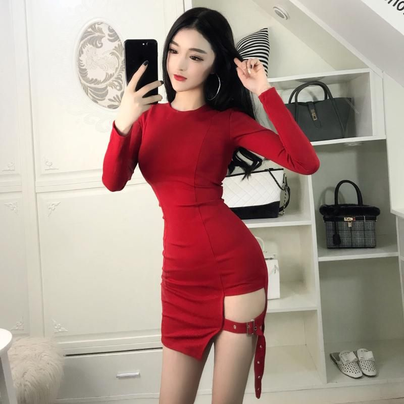eed290ed27c Korean sexy strap skirt night dress SE11029