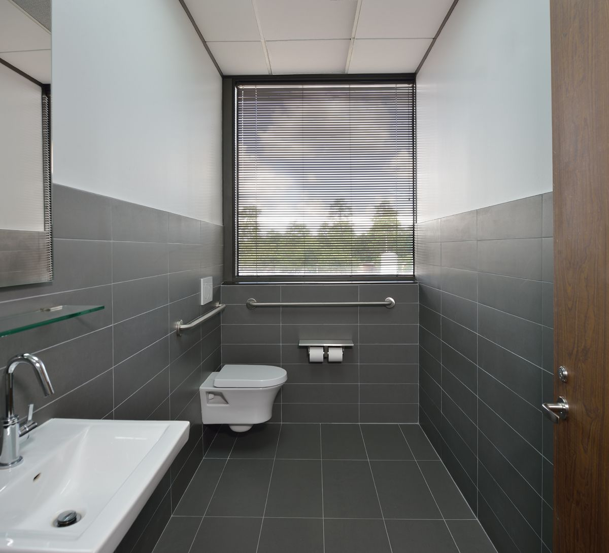 Bathroom for our clients outpatient medical office designed by wendt design group llc www