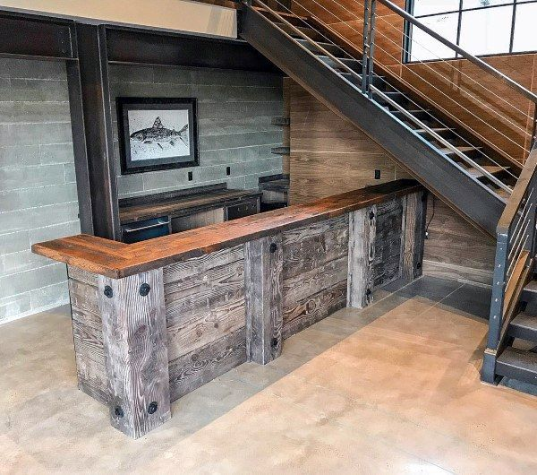 Top 70 Best Rustic Bar Ideas